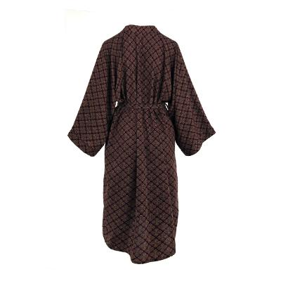long sleeve maxi robe multi